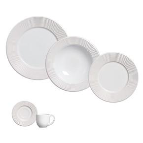 Aparelho de Jantar Gráfico Branco (20 peças)