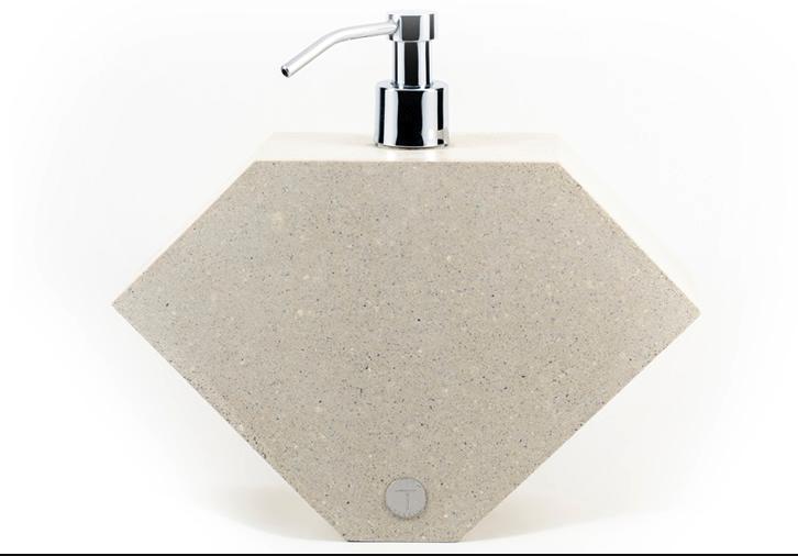 Saboneteira Lápida branco/areia