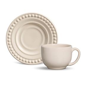 Xícara de Chá Dots Cru (6 peças)