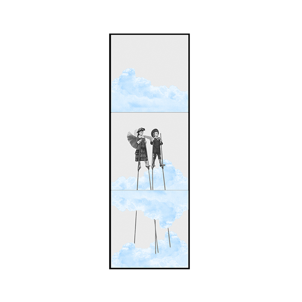 Painel Azulejos Branco nas Nuvens perna de pau