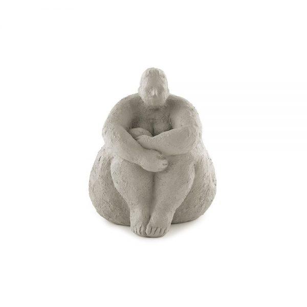 Escultura Mulher em Poliresina Cinza